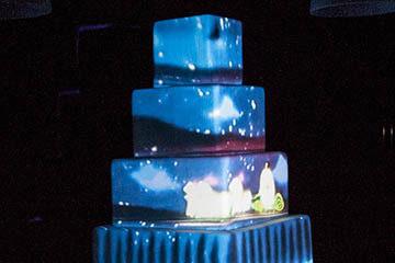 3D мэппинг на торт