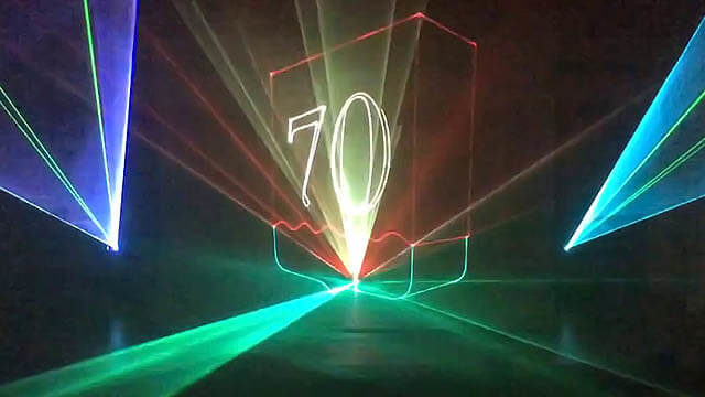 Лазерное шоу на стадионе от студии Cobra_2