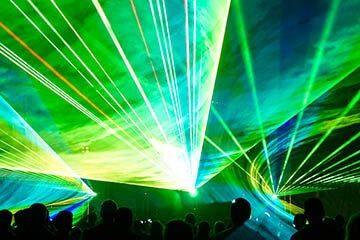 Лазерное шоу на стадионе cobrashow
