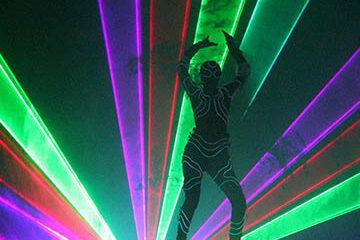 Лазерное шоу с огнем cobrashow