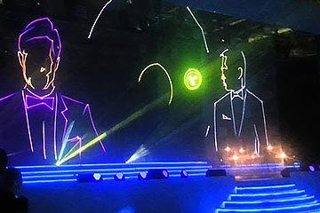 Лазерное шоу презентация продукта услуги Cobra