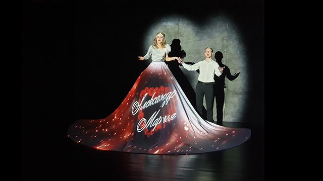 Маппинг на платье. Шоу на свадьбу https://cobrashow.ru/